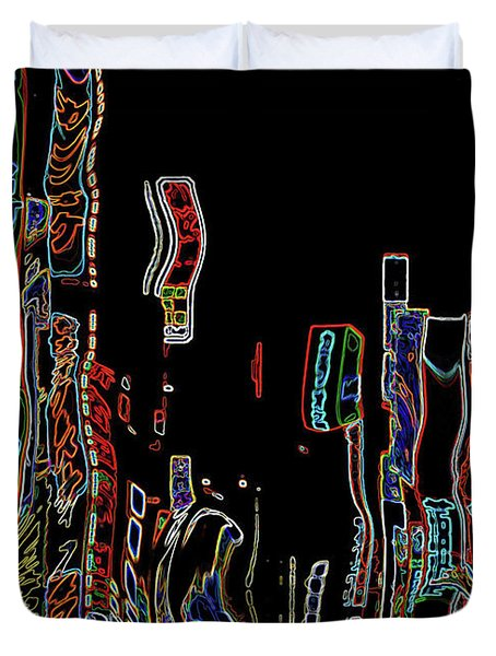 Losing Equilibrium - Abstract Art Duvet Cover by Carol Groenen
