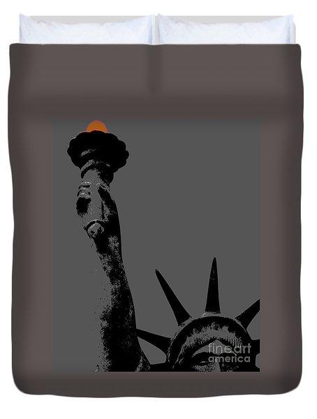 Losing Liberty Duvet Cover by Joe Jake Pratt
