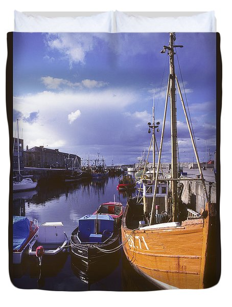 Duvet Cover featuring the photograph Lossiemouth Harbour - Scotland by Phil Banks