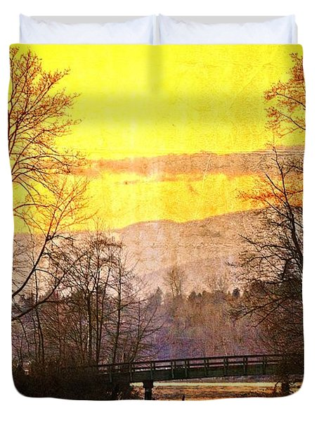 Lost Along The River Duvet Cover by Eti Reid