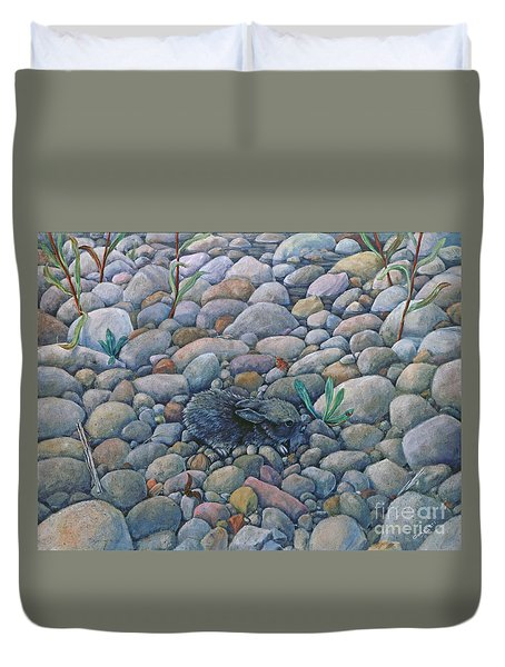 Lost And Found Rabbit Duvet Cover