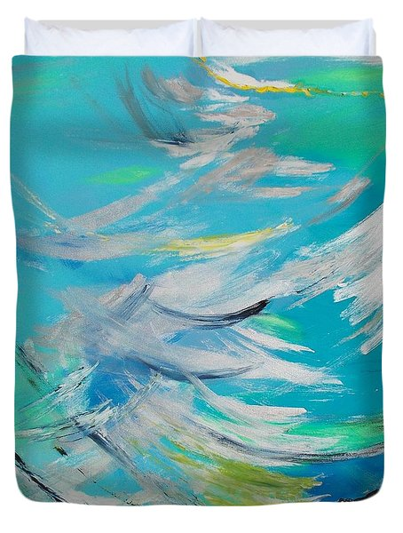 Lost At Sea Duvet Cover by PainterArtist FIN