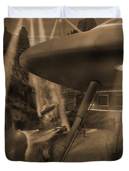 Lost Film 35 Mm Duvet Cover by Mike McGlothlen