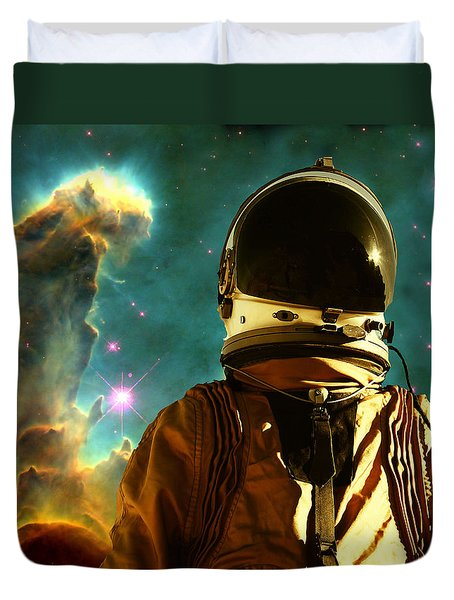Lost In The Star Maker Duvet Cover by Matthew Lacey