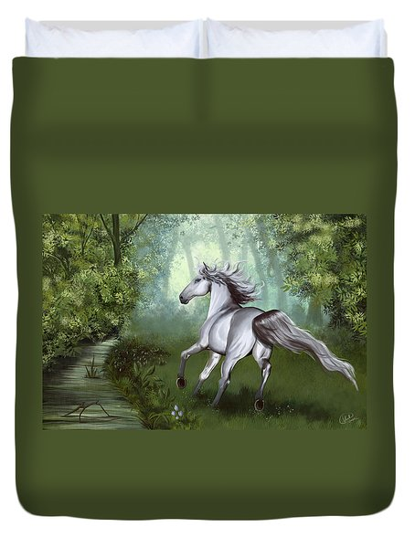 Lost In The Forest Duvet Cover by Kate Black