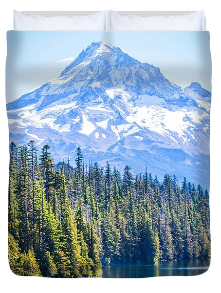 Lost Lake Morning Duvet Cover