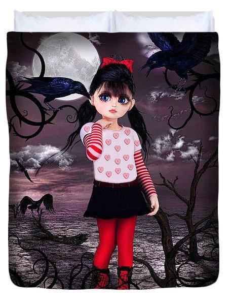 Lost Little Girl Duvet Cover
