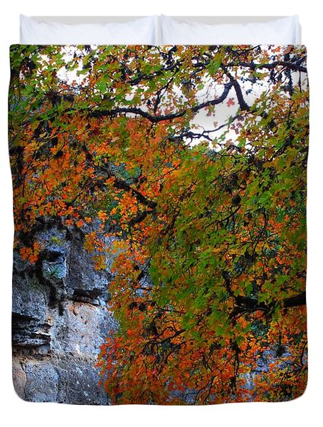 Fall Foliage At Lost Maples State Natural Area  Duvet Cover