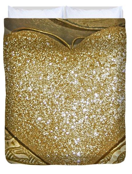 Lost My Golden Heart Duvet Cover