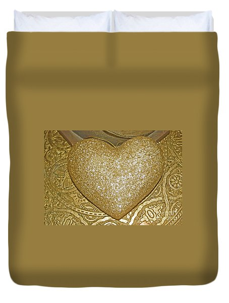 Lost My Golden Heart Duvet Cover
