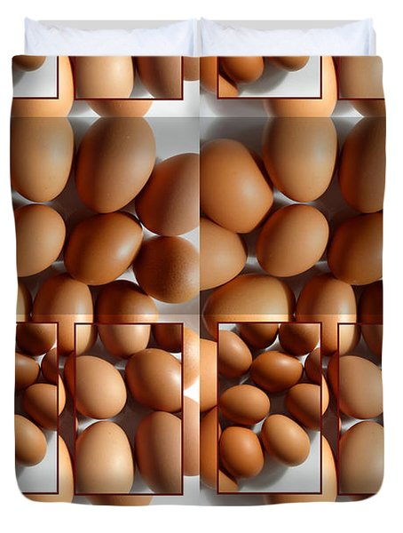 Lots Of Brown Eggs Duvet Cover