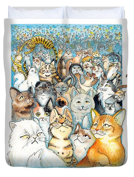Lots Of Cats Duvet Cover