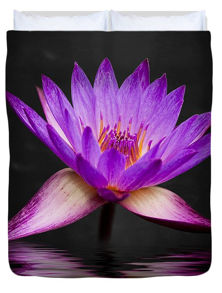 Lotus Duvet Cover by Adam Romanowicz