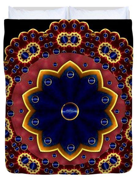 Lotus Bloom Duvet Cover by Pepita Selles