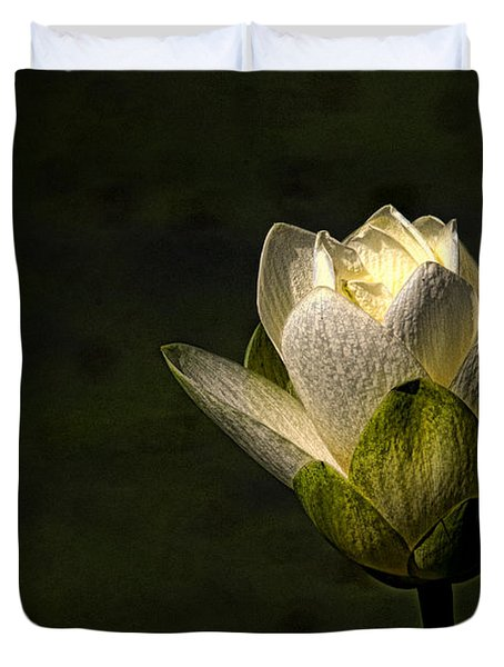 Lotus Blossom Duvet Cover by Travis Burgess