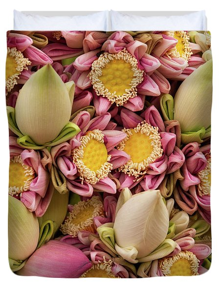 Lotus Buds 03 Duvet Cover