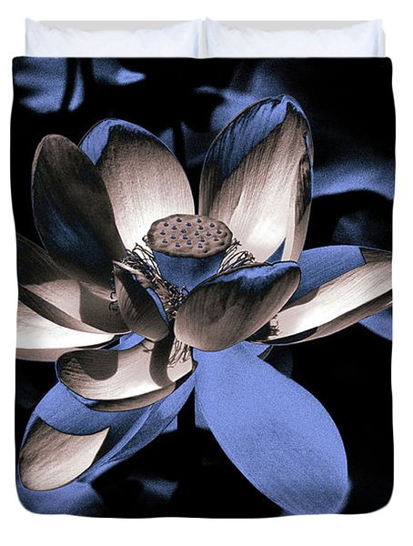 Lotus By Night Duvet Cover