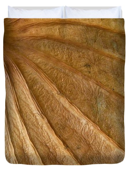 Duvet Cover featuring the photograph Lotus Leaf by Jane Ford