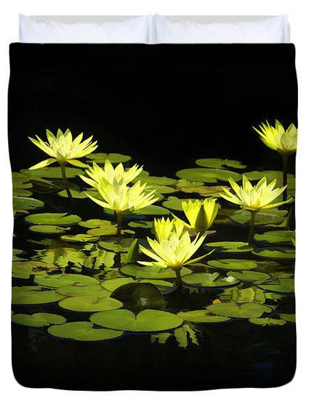 Lotus Lillies Duvet Cover