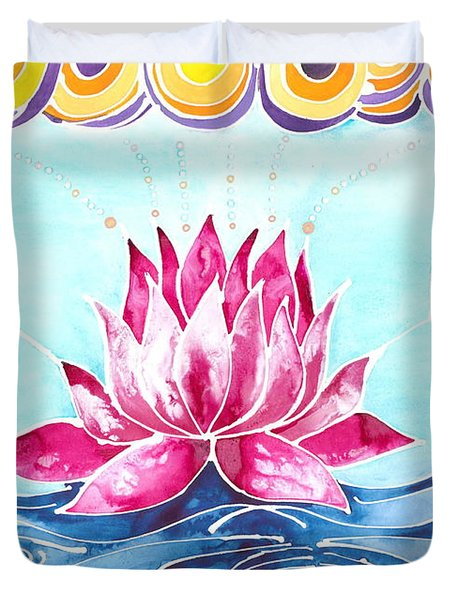 Lotus Lily Duvet Cover
