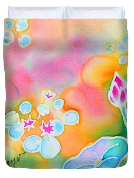Lotus Pond Duvet Cover