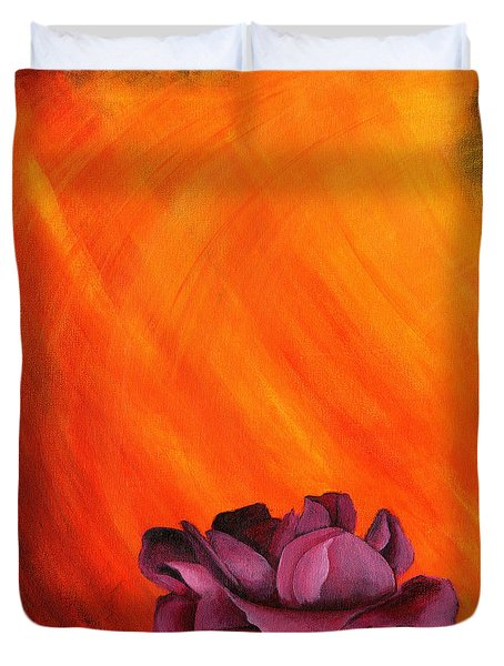 Lotus Rose Duvet Cover