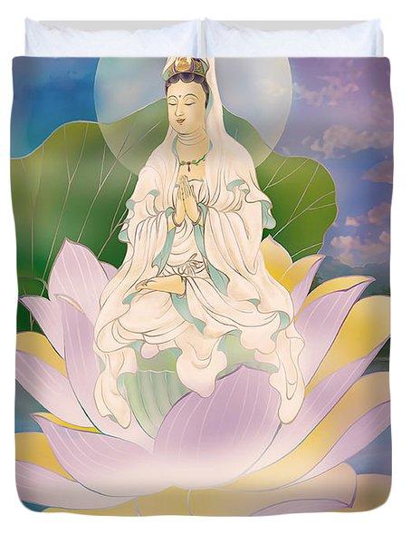 Lotus-sitting Avalokitesvara  Duvet Cover