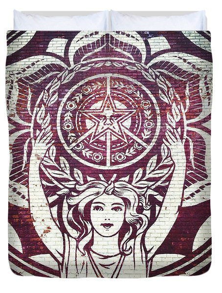 Lotus Woman Of Brooklyn Duvet Cover