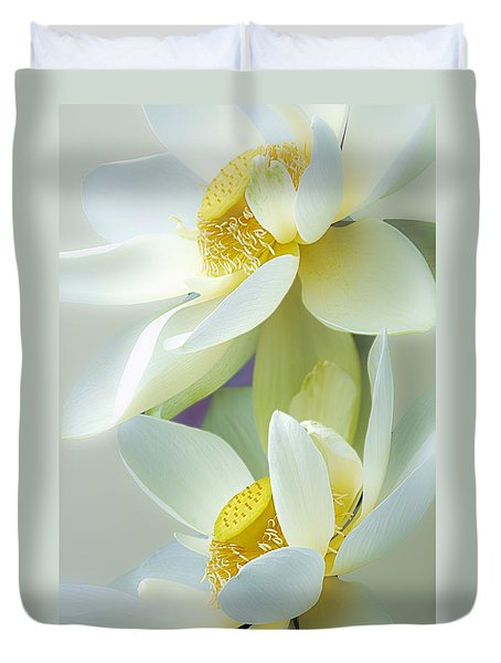 Lotuses In Bloom Duvet Cover