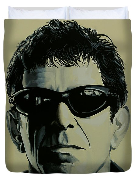 Lou Reed Painting Duvet Cover by Paul Meijering
