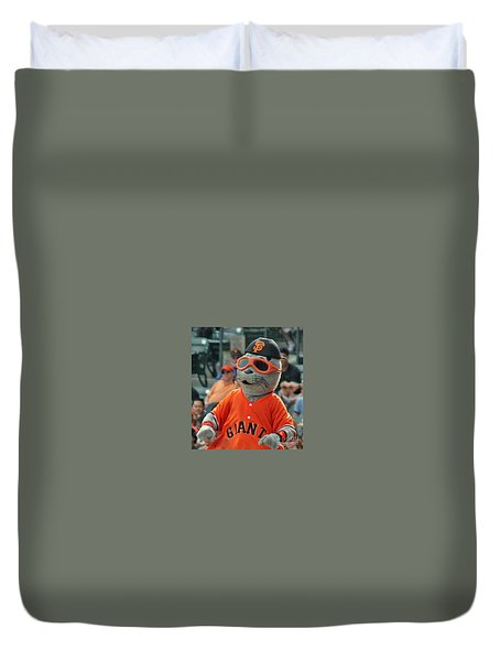 Lou Seal San Francisco Giants Mascot Duvet Cover