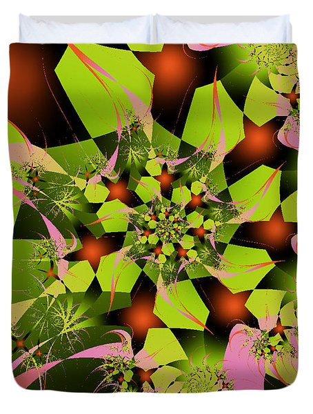 Duvet Cover featuring the digital art Loud Bouquet by Elizabeth McTaggart