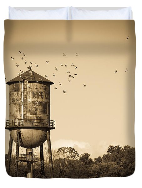 Loudon Water Tower Duvet Cover by Melinda Fawver