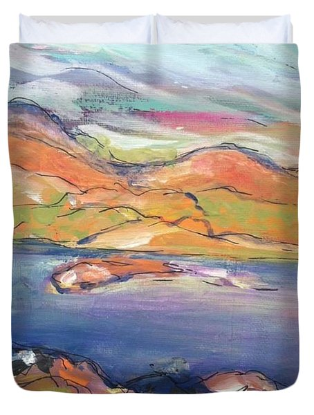 Loughrigg Fell Lake District Duvet Cover