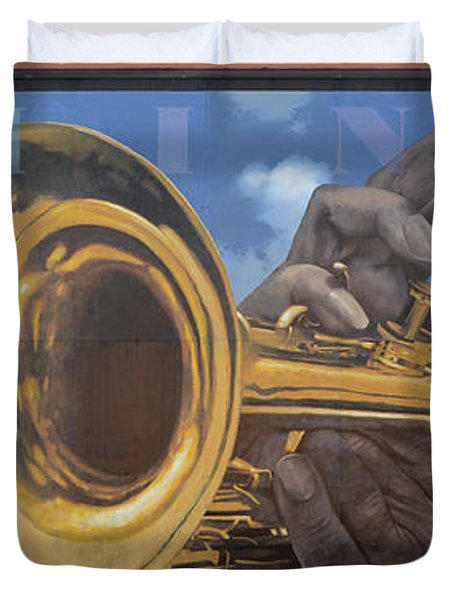 Louis Armstrong Duvet Cover by Bob Christopher