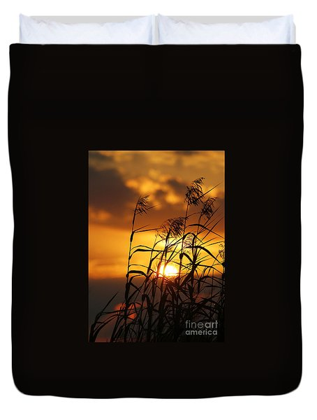 Duvet Cover featuring the photograph Louisiana Marsh Sunset by Luana K Perez