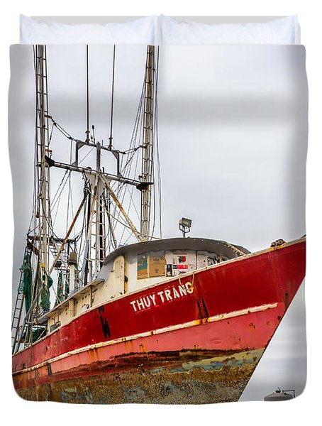 Louisiana Shrimp Boat 2 Duvet Cover by Steve Harrington