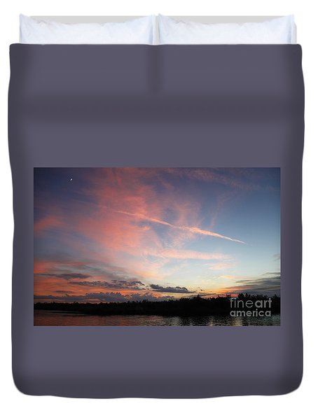 Duvet Cover featuring the photograph Louisiana Sunset In Lacombe by Luana K Perez