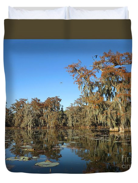 Duvet Cover featuring the photograph Louisiana Swamp by Martin Konopacki