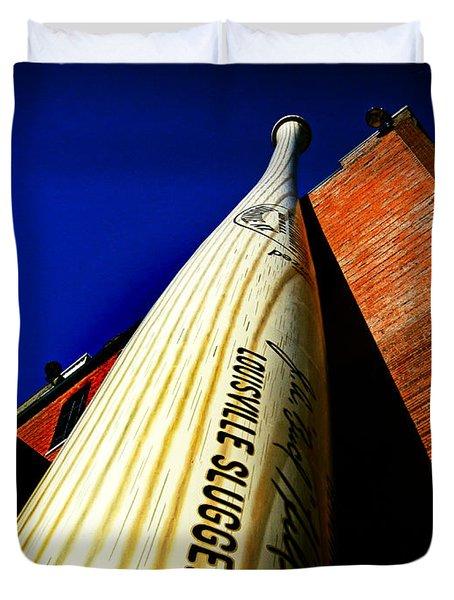 Louisville Slugger Bat Factory Museum Duvet Cover