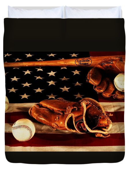 Louisville Slugger Duvet Cover by Dan Sproul