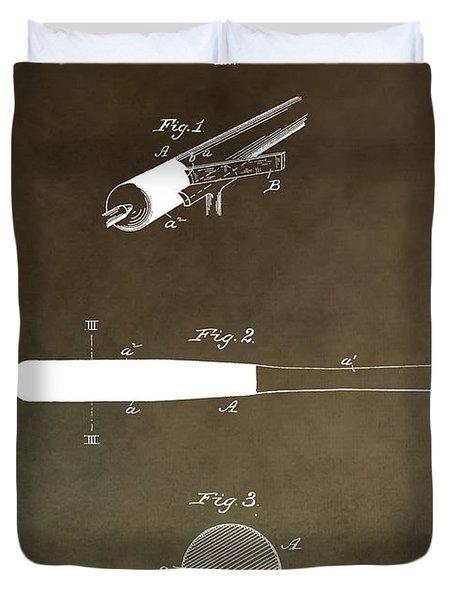Louisville Slugger Patent Duvet Cover by Dan Sproul