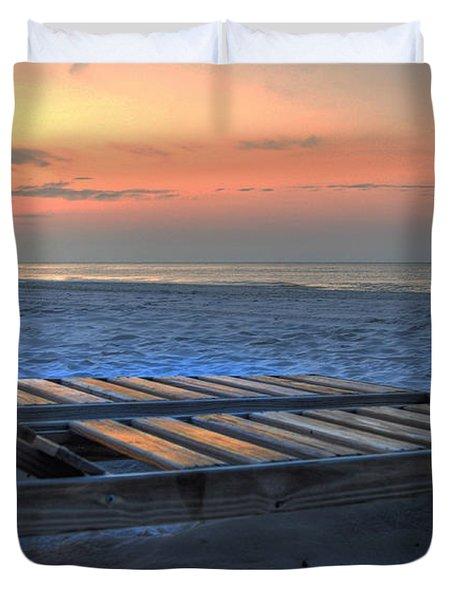 Lounge Closeup On Beach ... Duvet Cover by Michael Thomas