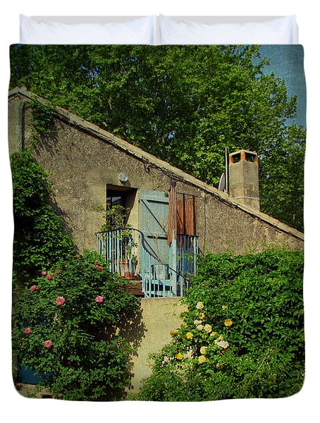 Lourmarin Cottage Duvet Cover by Carla Parris