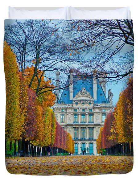Louvre In Fall Duvet Cover