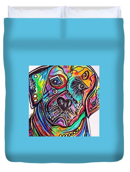 Lovable Lab Duvet Cover by Eloise Schneider