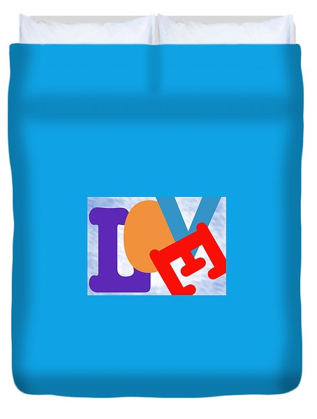 Love 1 Duvet Cover by Mary Armstrong