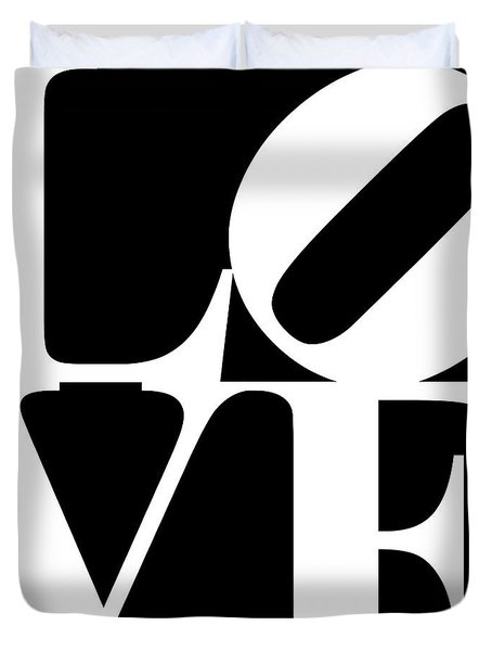 Love 20130707 White Black Duvet Cover
