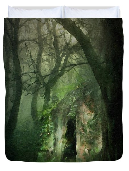 Love Affair With A Forest Duvet Cover