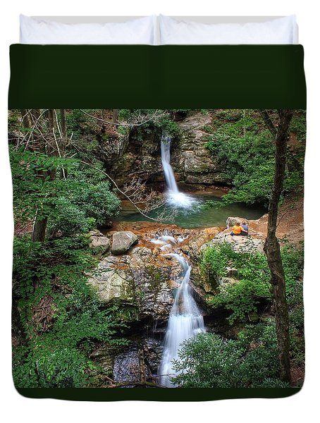 Love At The Blue Hole Duvet Cover